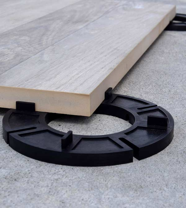 Rubber Deck Support Pads for Laying Pavers over Concrete