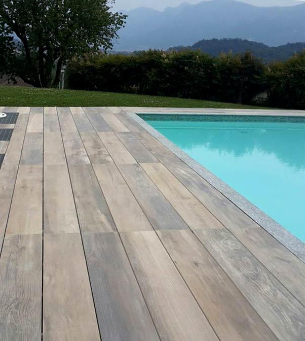 Porcelain Planks For Building Fireproof Elevated Decks